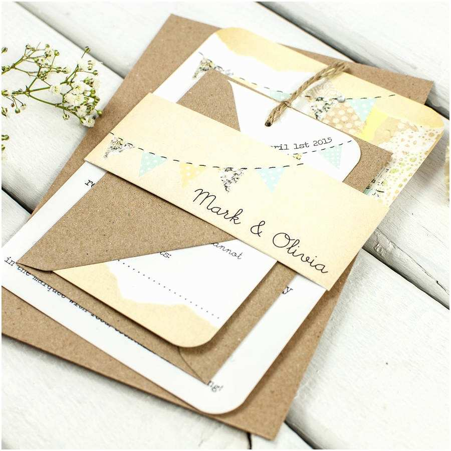 Wedding Invitation Bundles Country Bunting Wedding Invitation Bundle by norma&dorothy