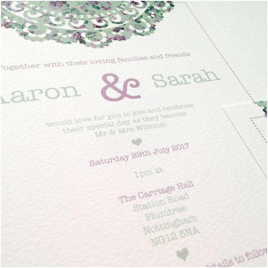 Wedding Invitation Bundles Doily Daydream Wedding Invitation Bundle