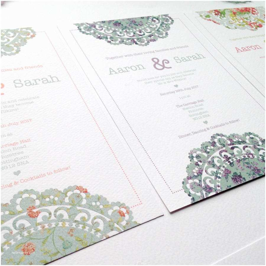 Wedding Invitation Bundles Doily Daydream Wedding Invitation Bundle