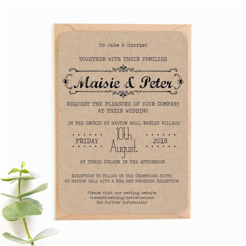 Wedding Invitation Bundles Kraft Wedding Invitation Bundle by norma&dorothy
