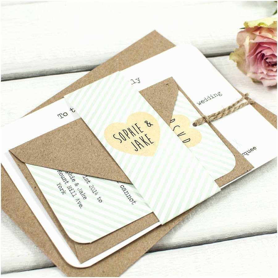 Wedding Invitation Bundles Mint Stripe Wedding Invitation Bundle by norma&dorothy
