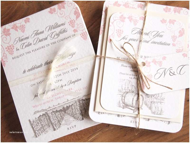 Wedding Invitation Bundles Rustic Vineyard Wedding Invitations Winery Wedding