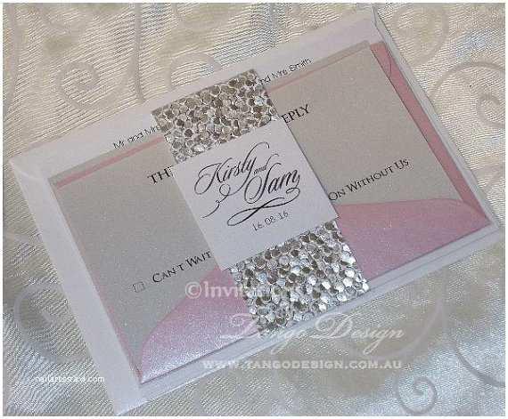 Wedding Invitation Bundles Wedding Invitation Bundle X24 Blush Gold by Invitationsbytango