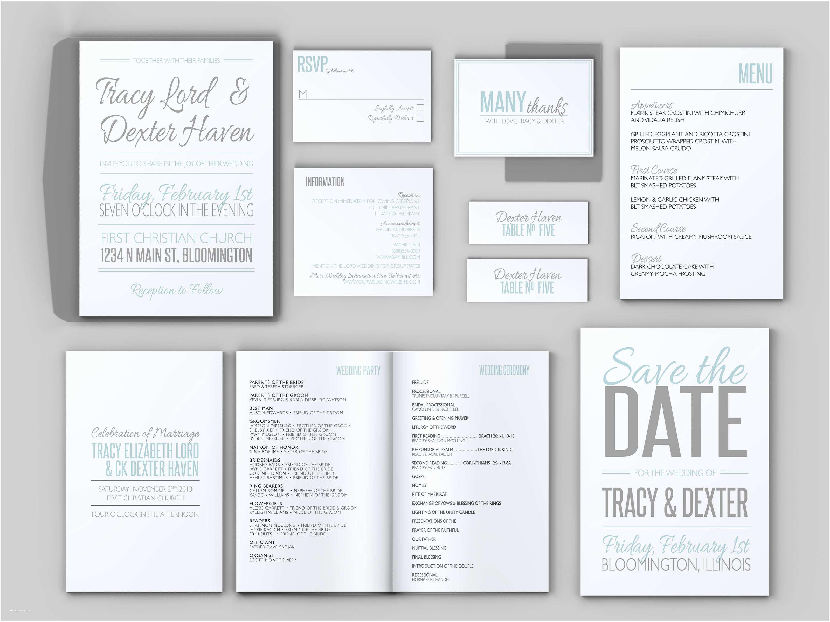 wonderful wedding invitation bundles