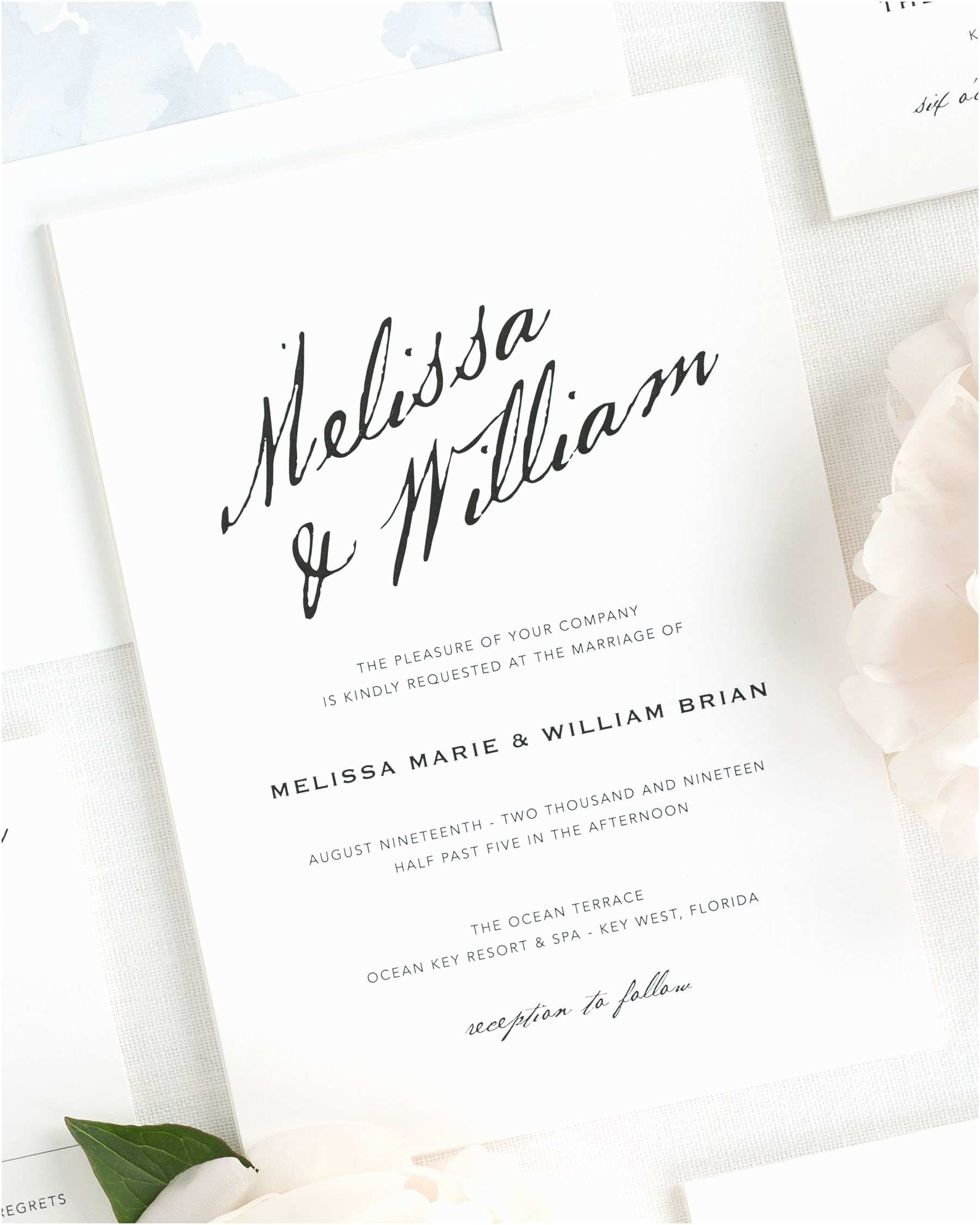 Wedding Invitation Calligraphy 2015 Wedding  By Shine Wedding
