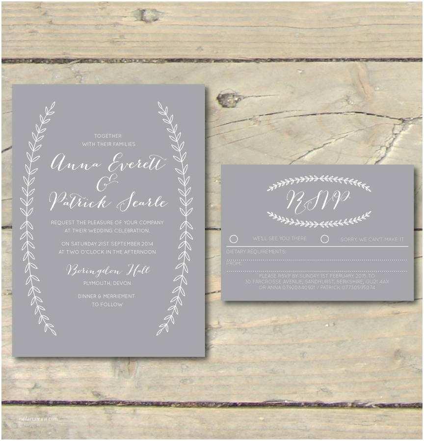 Wedding Invitation Calligraphy Boho Graceful Calligraphy Wedding Invitations By