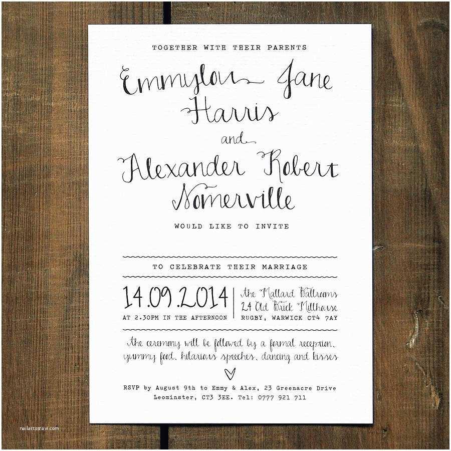 Wedding Invitation Calligraphy Calligraphy Wedding Invitation Stationery By Feel