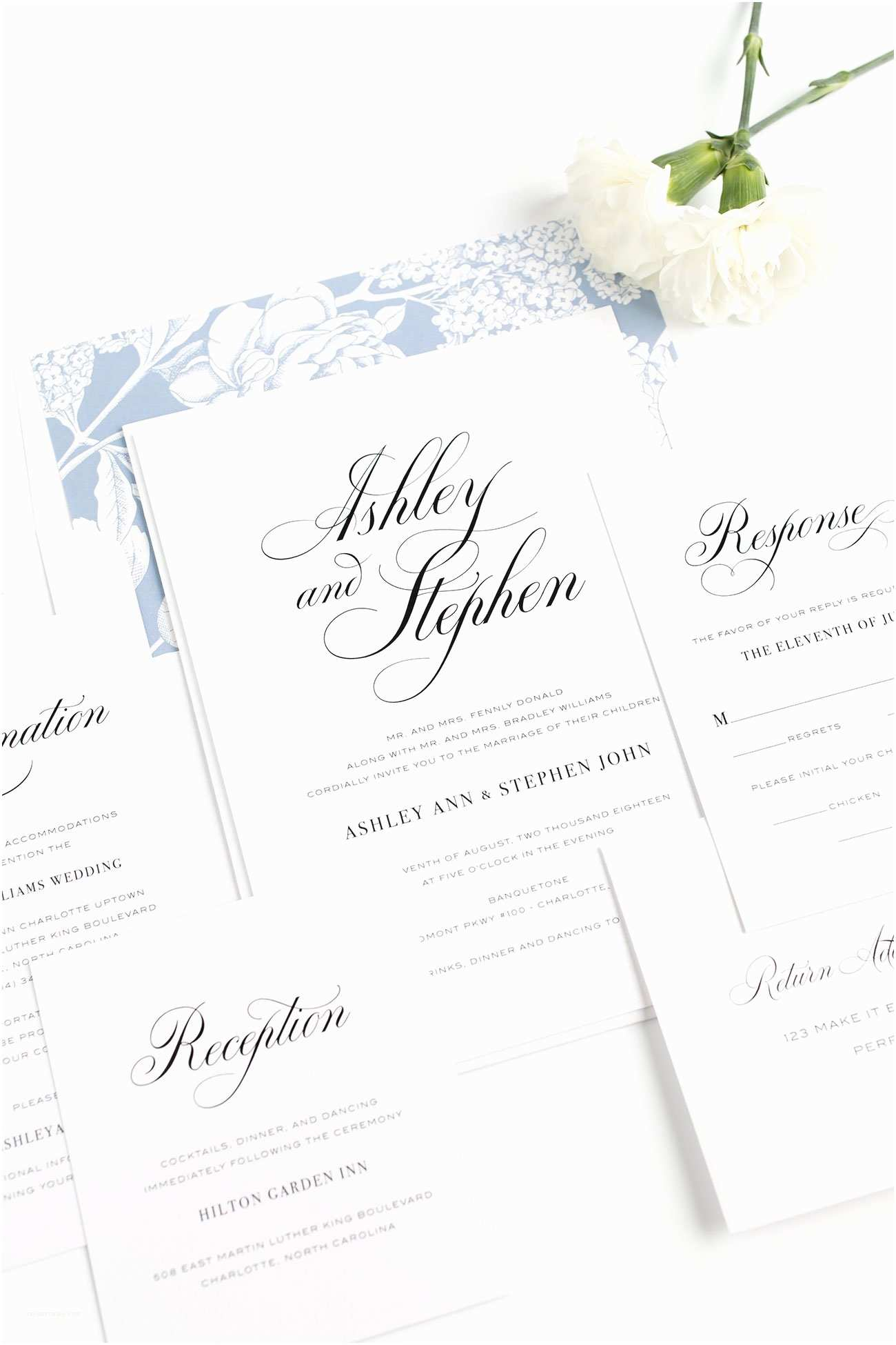 Wedding Invitation Calligraphy Calligraphy Wedding Invitations In Serenity Blue – Wedding