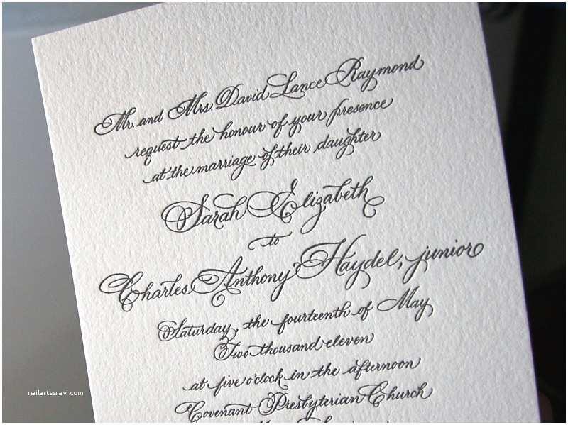 Wedding Invitation Calligraphy Classic Black White Calligraphy Wedding