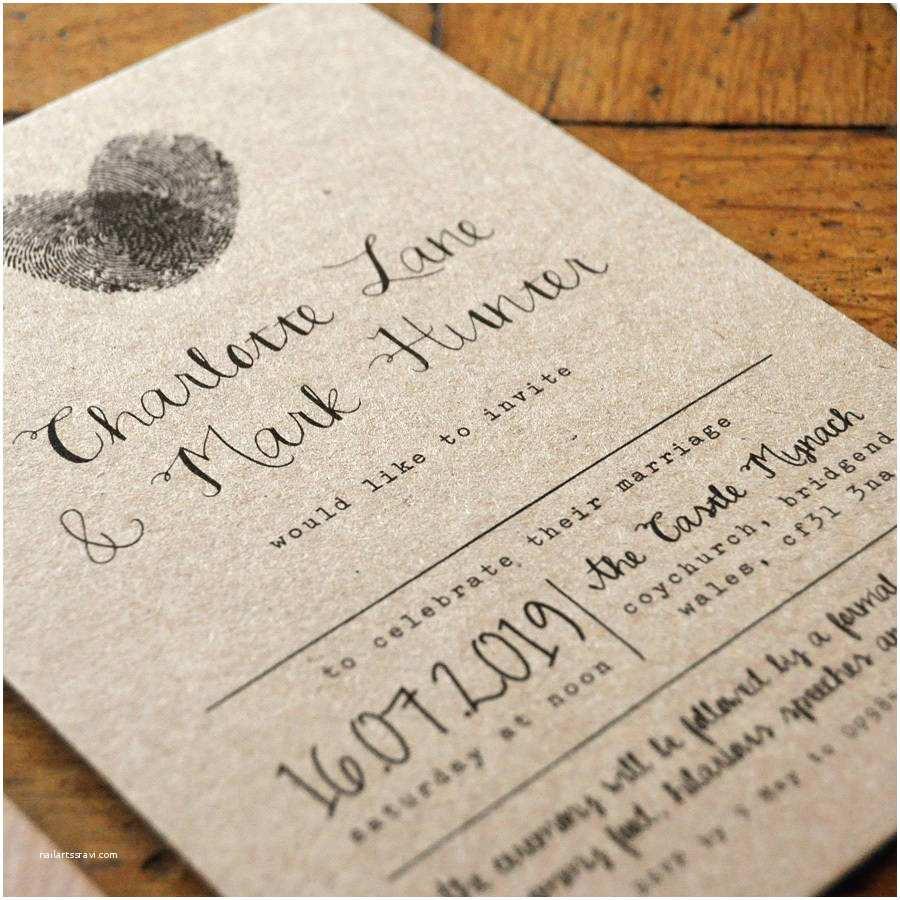 Wedding Invitation Calligraphy Fingerprint And Calligraphy Wedding Invitation Suite