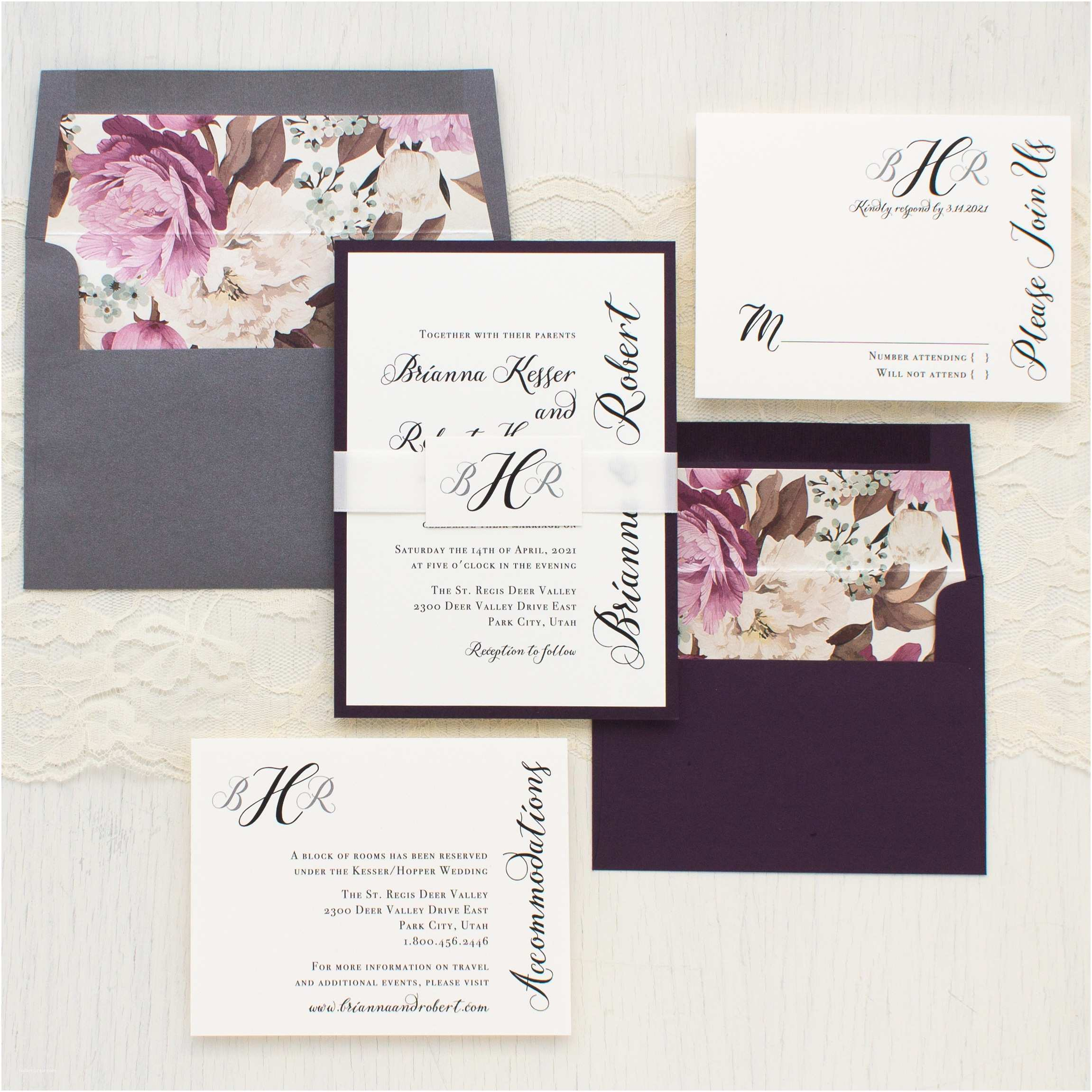 Wedding Invitation Calligraphy Simple Calligraphy Customizable Modern Wedding