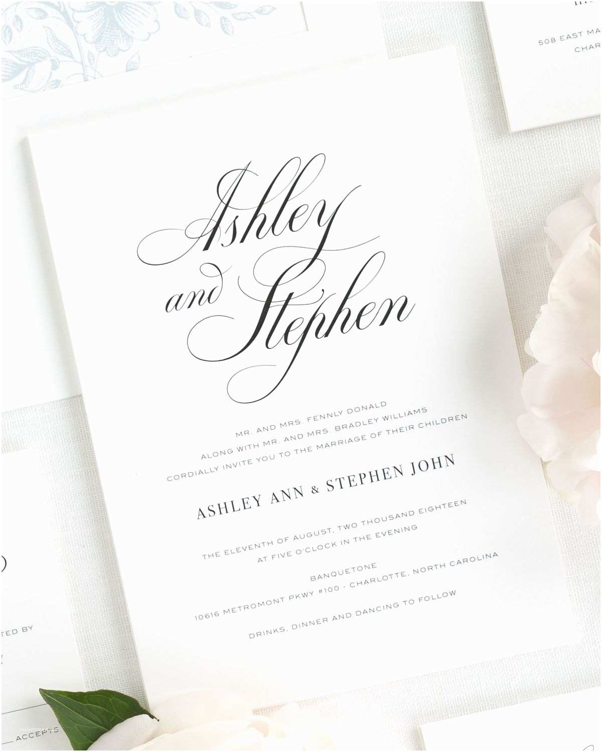 Invitation Calligraphy Timeless Calligraphy  Invitations