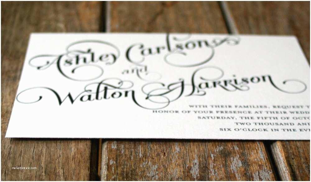Wedding Invitation  Vintage Wedding Invitation Elegant And Modern