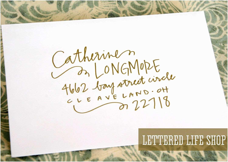 Wedding Invitation Calligraphy Wedding Calligraphy Envelope Addressing Gold