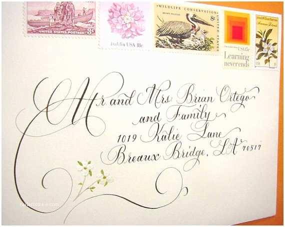 Wedding Invitation Calligraphy Wedding Invitation Envelope Addressing By
