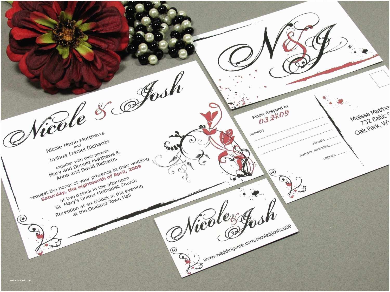 Wedding Invitation  Wedding Invitation Set Modern Wedding Invitations