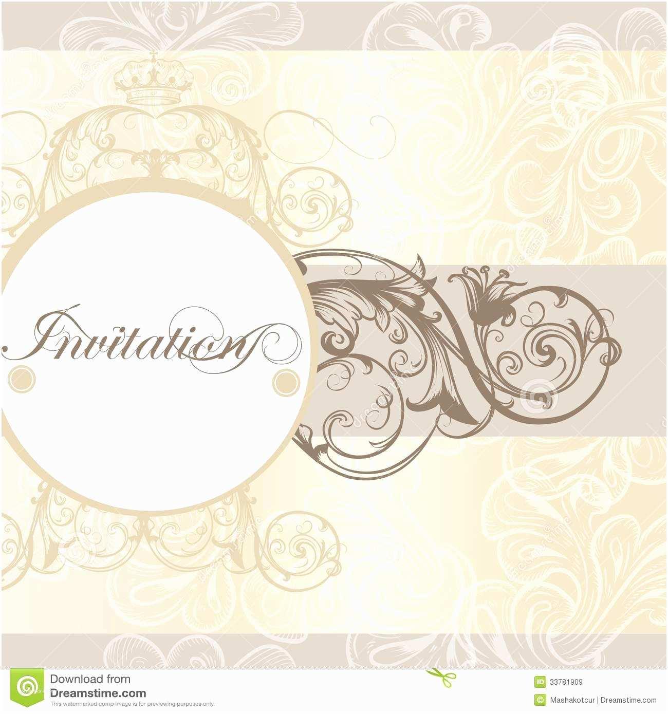 Wedding Invitation Card Design Wedding Invitation Card for Design Stock Vector
