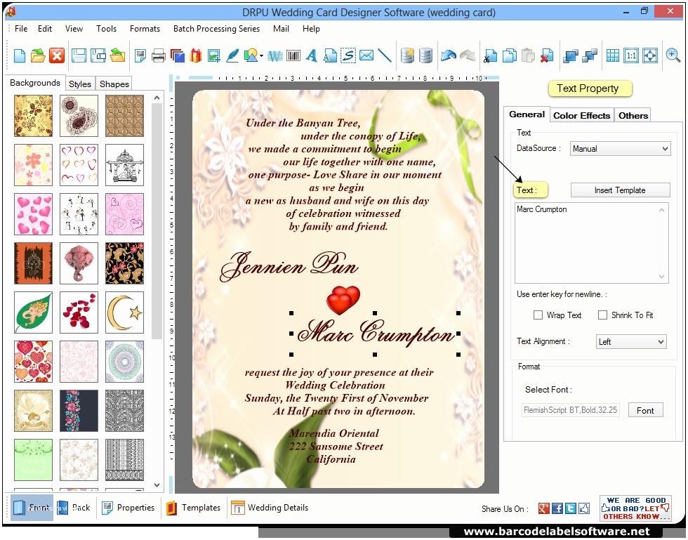 Wedding Invitation Card Maker Amazing Wedding Invitation Creator