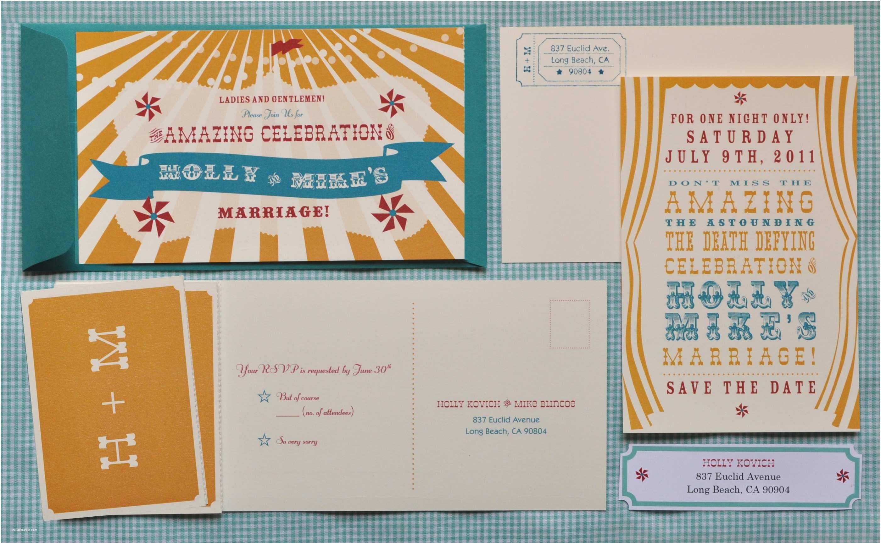 Wedding Invitation Card Maker Circus Wedding Invitations Invitation Maker Desi