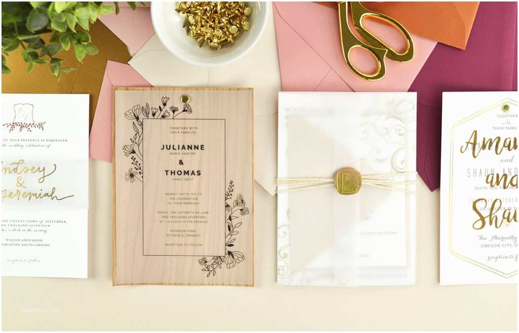 Wedding Invitation Card Paper 4 Ways to Diy Elegant Vellum Wedding Invitations – Cards