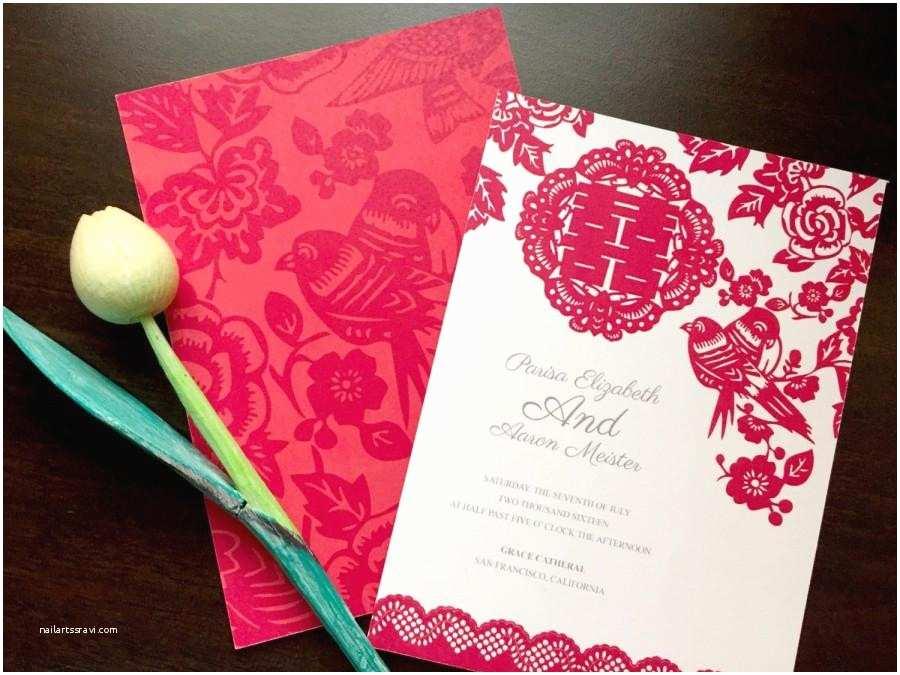 Wedding Invitation Card Paper Diy Printable Chinese Wedding Celebration Invitation Card