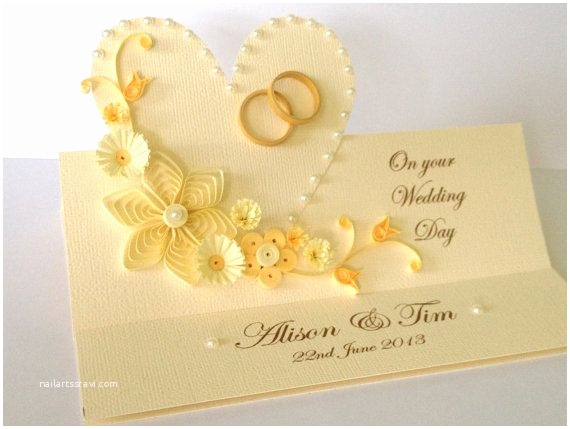 Wedding Invitation Card Paper Quilling Handmade Wedding Invitation and Greeting Card