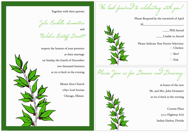 Wedding Invitation  Template Sample Wedding Invitation Template