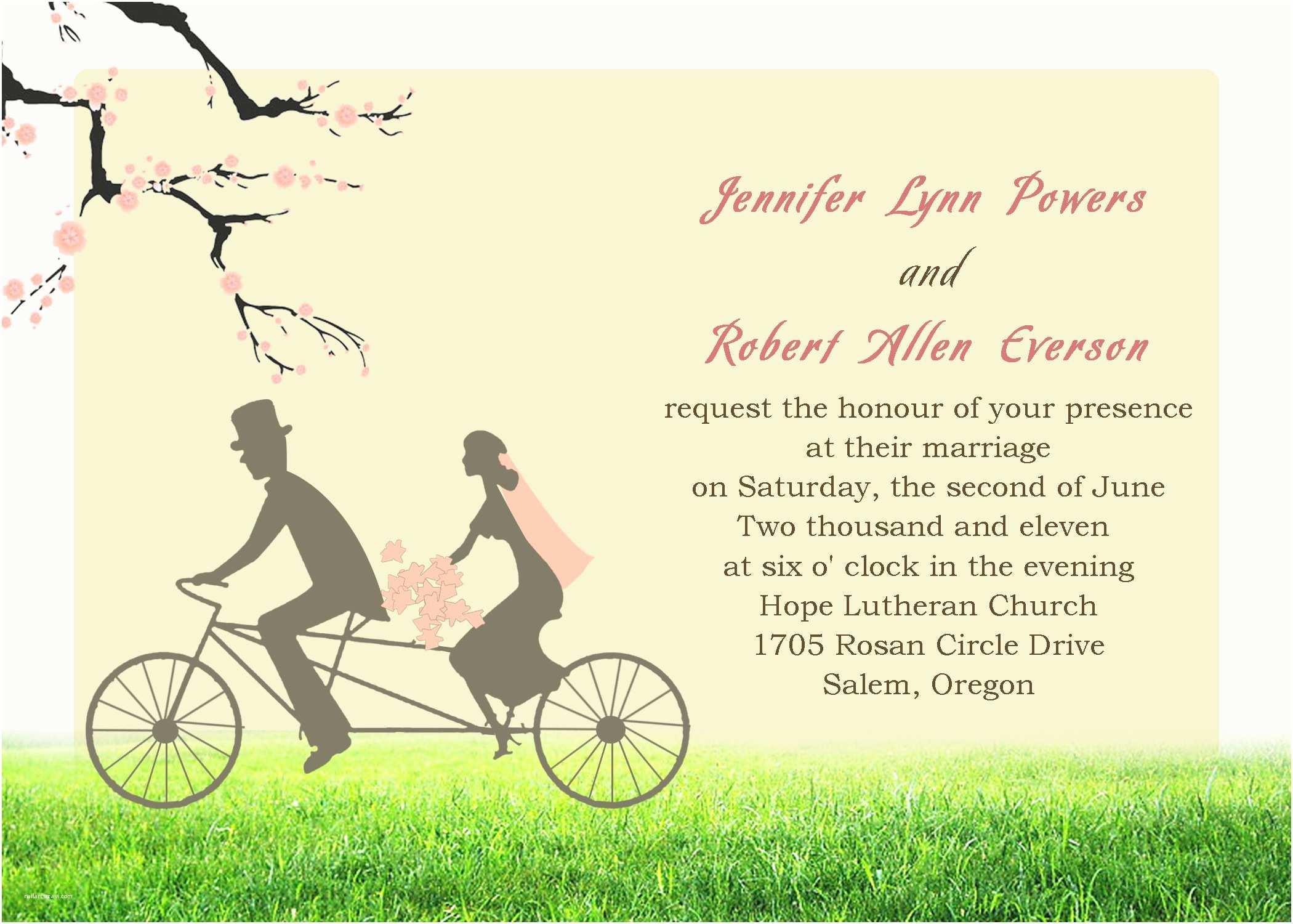 Wedding Invitation  Template Unique Wedding Invitation