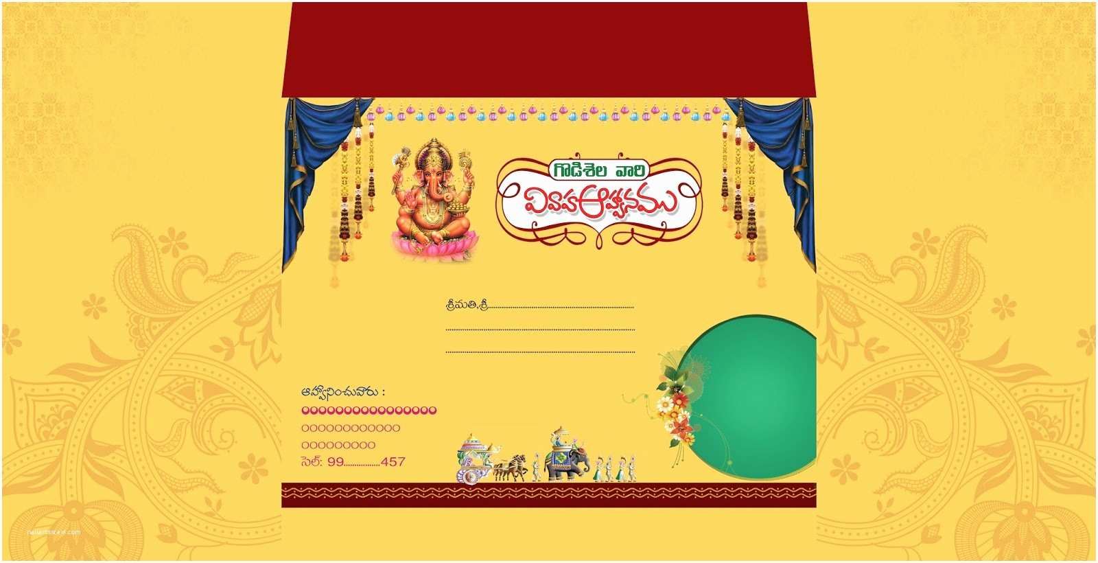 Wedding Invitation Cards Online Free India Indian Wedding Card Invitation Psd Templates Free