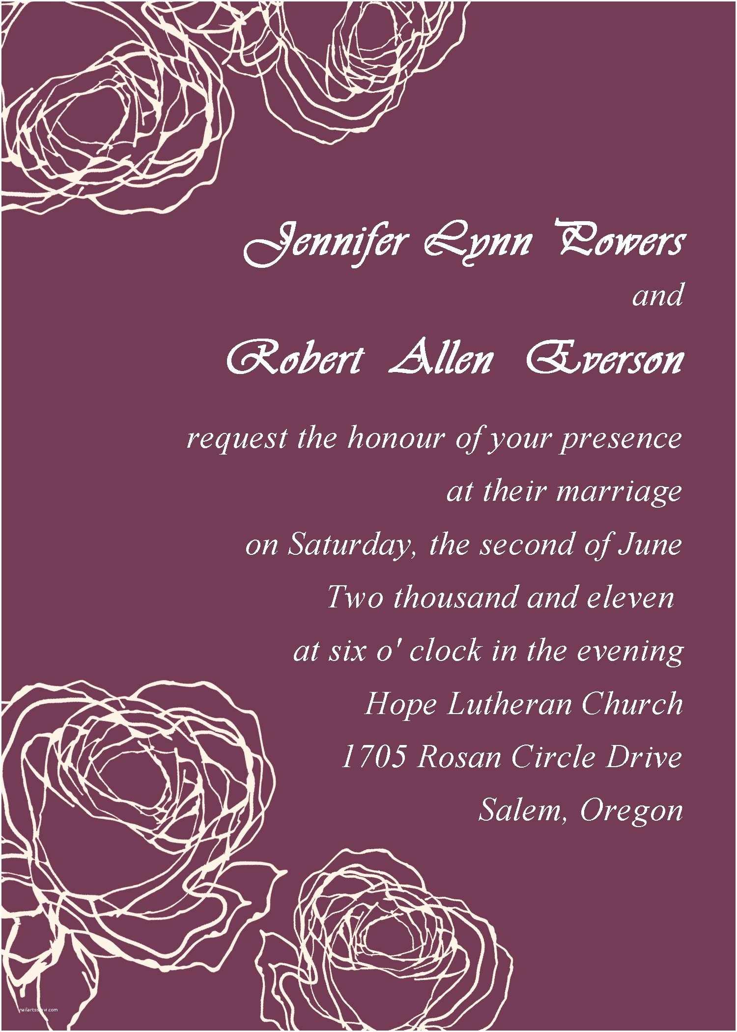 Wedding Invitation Cards Online Vintage Plum Rose Elegant Wedding Invitation Cards Online