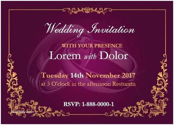 Wedding Invitation Cards Samples Professionally Design Wedding Invitation Card Template