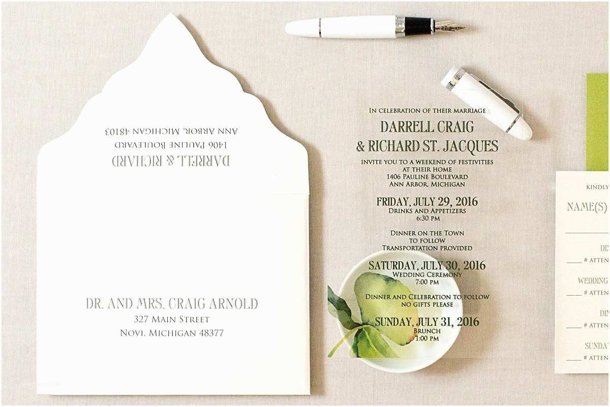 Wedding Invitation Cardstock and Envelopes Acrylic Wedding Invitations Gourmet Invitations