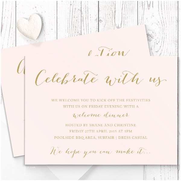 Wedding Invitation Cardstock and Envelopes Blush Pink and Gold Wedding Invitation Suite Matching