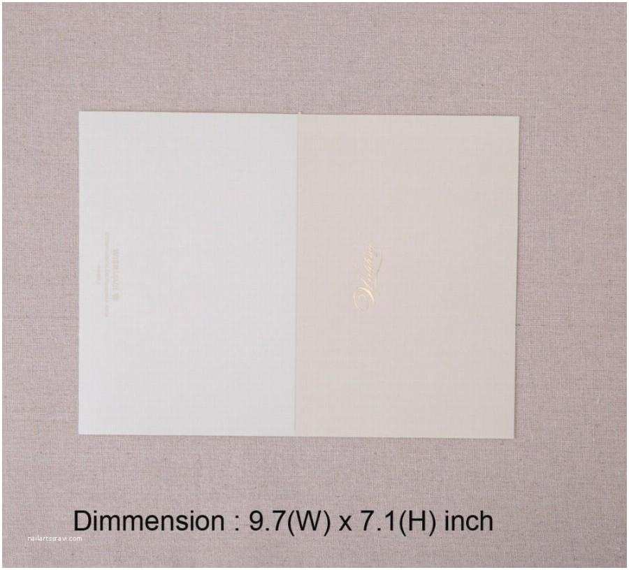 Wedding Invitation Cardstock and Envelopes Horizontal Laser Cut Wedding Invitations Cards White Gold