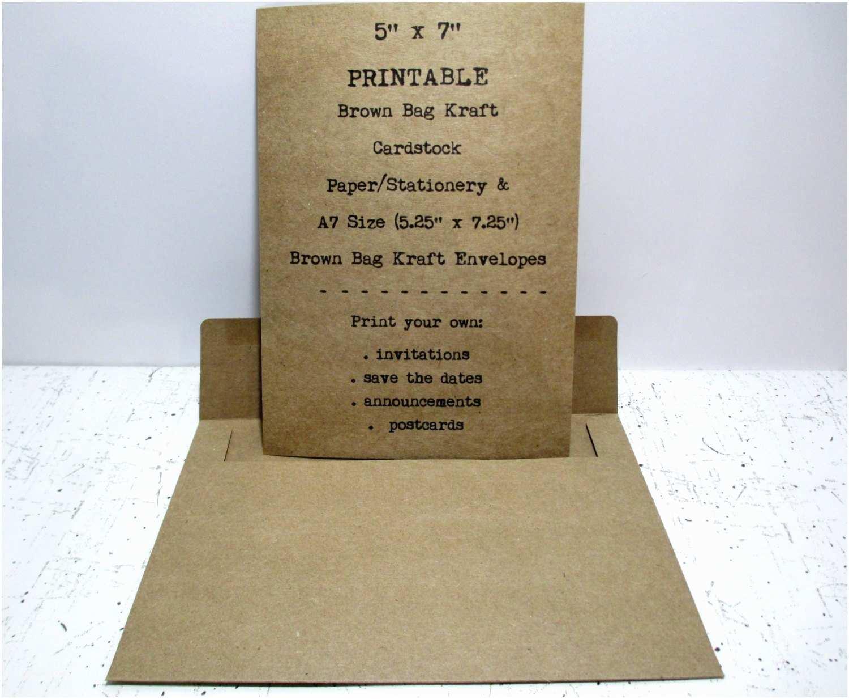 Wedding Invitation Cardstock and Envelopes Kraft Wedding Invitation Card Stock and Envelopes 100 Count