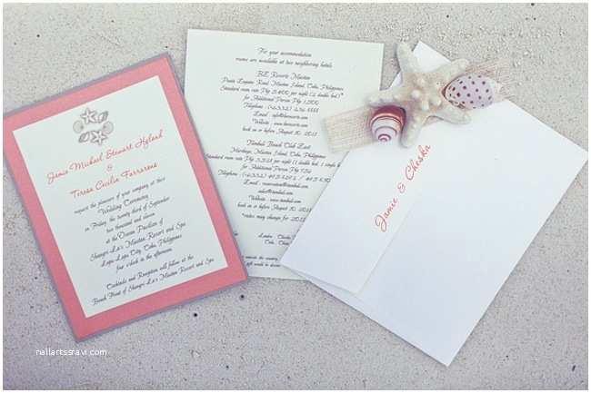 Wedding Invitation Cebu Cebu Beach Wedding