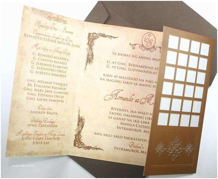 Wedding Invitation Cebu Homegrown Filipiniana Wedding theme