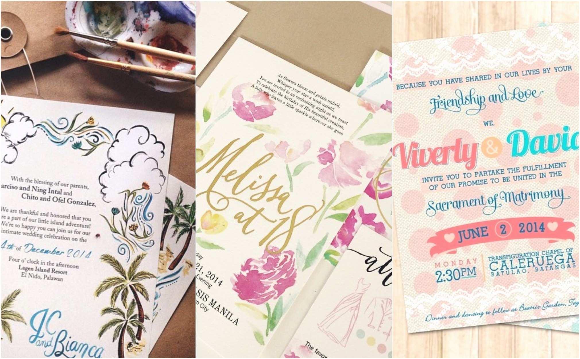 Wedding Invitation Cebu Invitation for Debut In Manila Save Marché Wedding