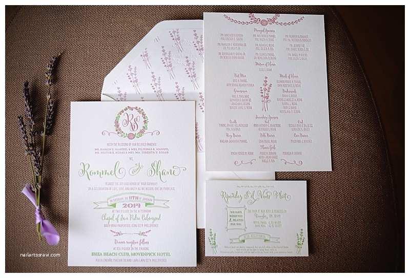 Wedding Invitation Cebu Movenpick Wedding Cebu