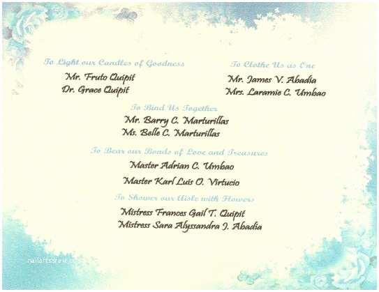 Wedding Invitation Cebu Wedding Invitation Wording Secondary Sponsors Yaseen for