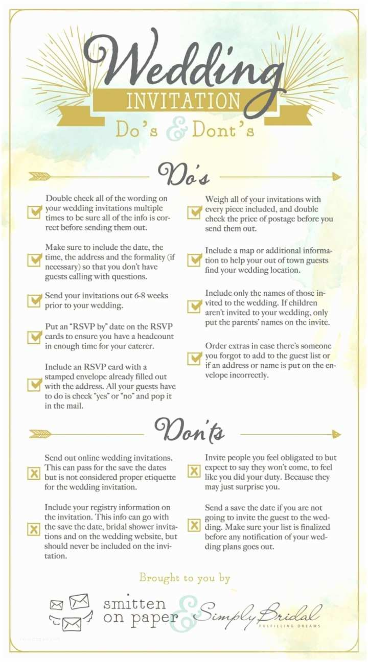 Wedding Invitation Checklist 6 Super Helpful Wedding Invitation Checklists Modwedding