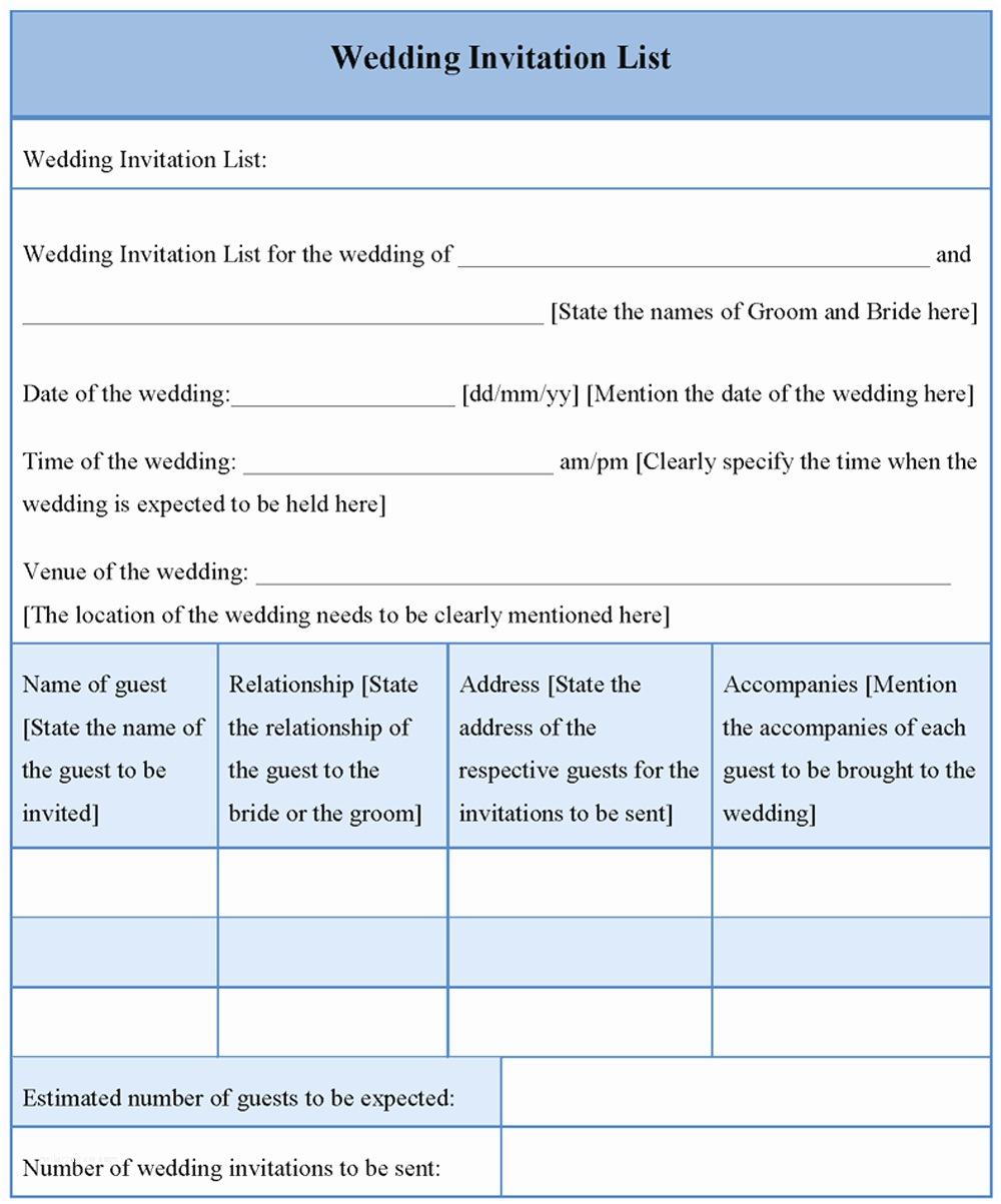 Wedding Invitation Checklist Wedding Invitation Wording Wedding Invitation Lists Templates
