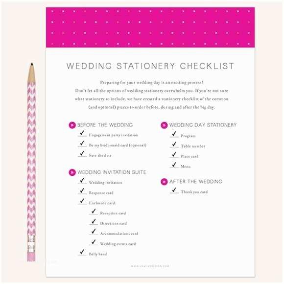 Wedding Invitation Checklist Wedding Stationery Checklist Printable by Basic Invite