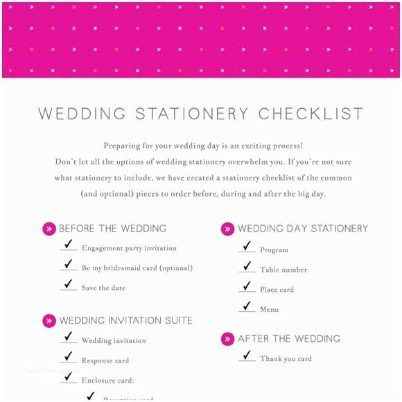 Wedding Invitation Checklist Wedding Stationery Checklist Printable by Basic Invite