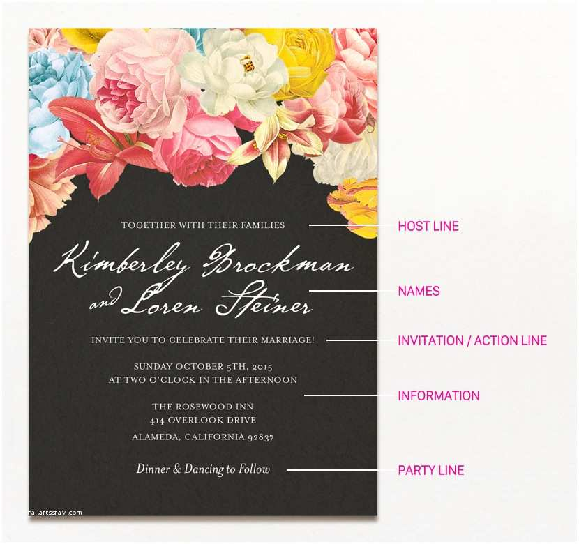 Wedding Invitation Content 15 Wedding Invitation Wording Samples From Traditional to Fun