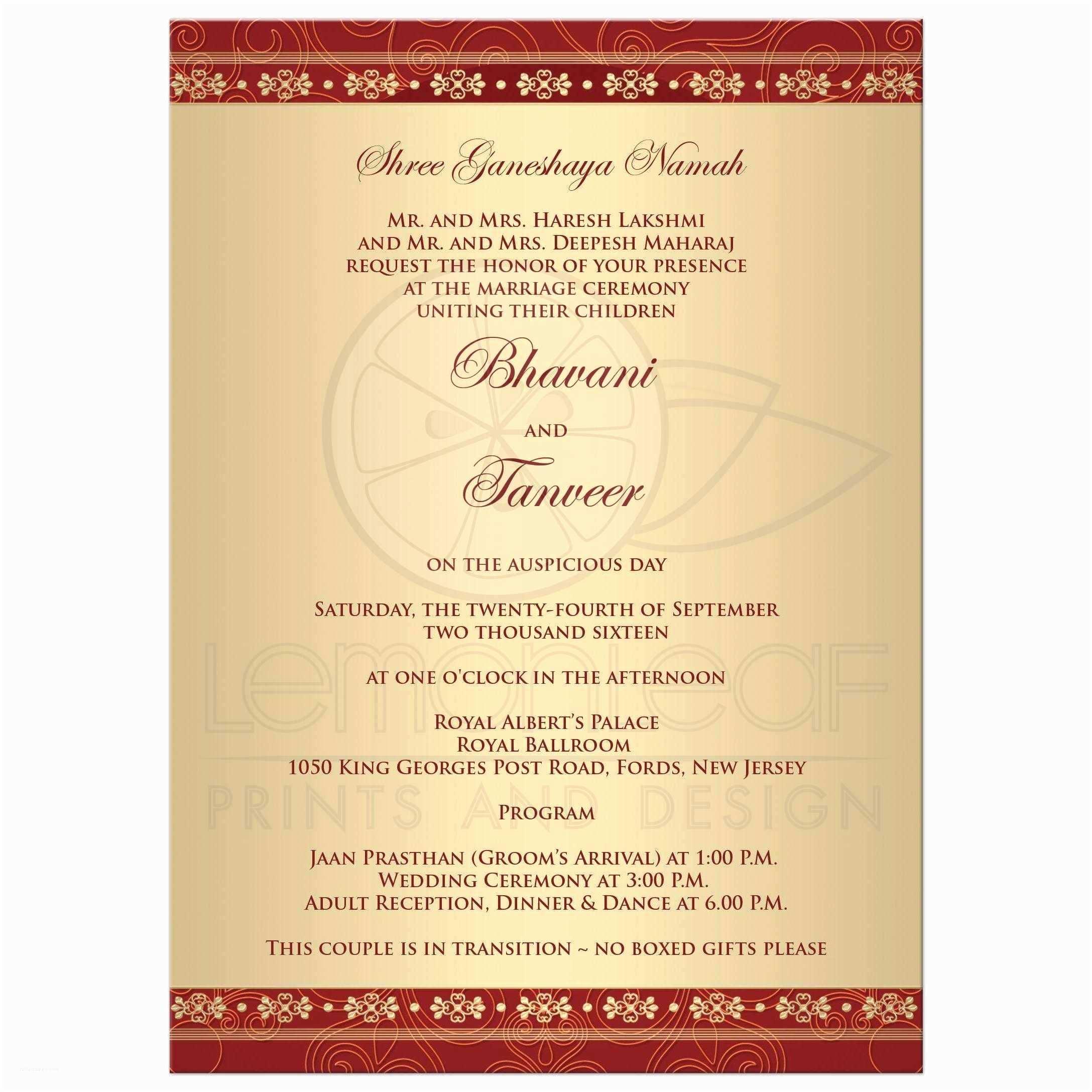 Invitation Content Indian  Invitation Cards Indian