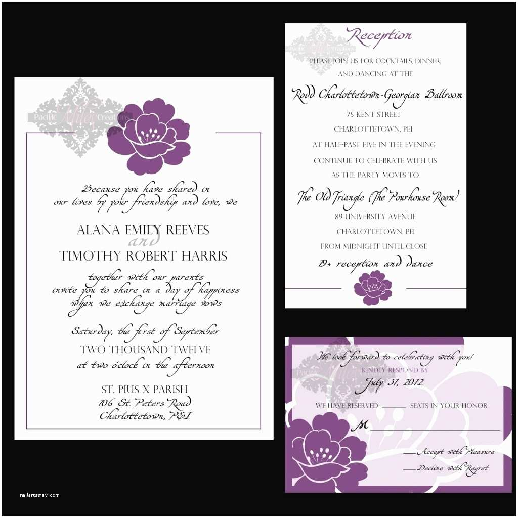 Wedding Invitation Content Wedding Reception Invitation