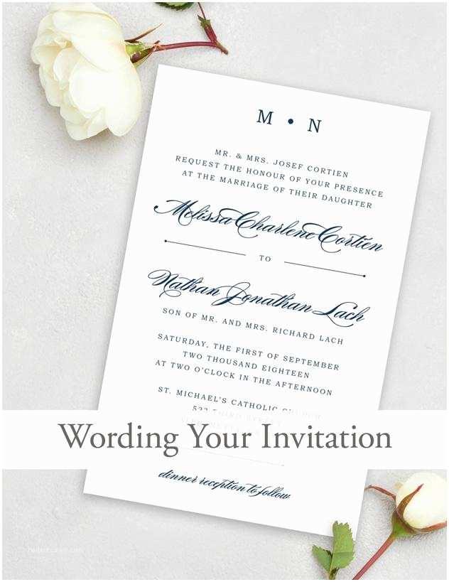 Wedding Invitation Copy Wedding Invitation Wording