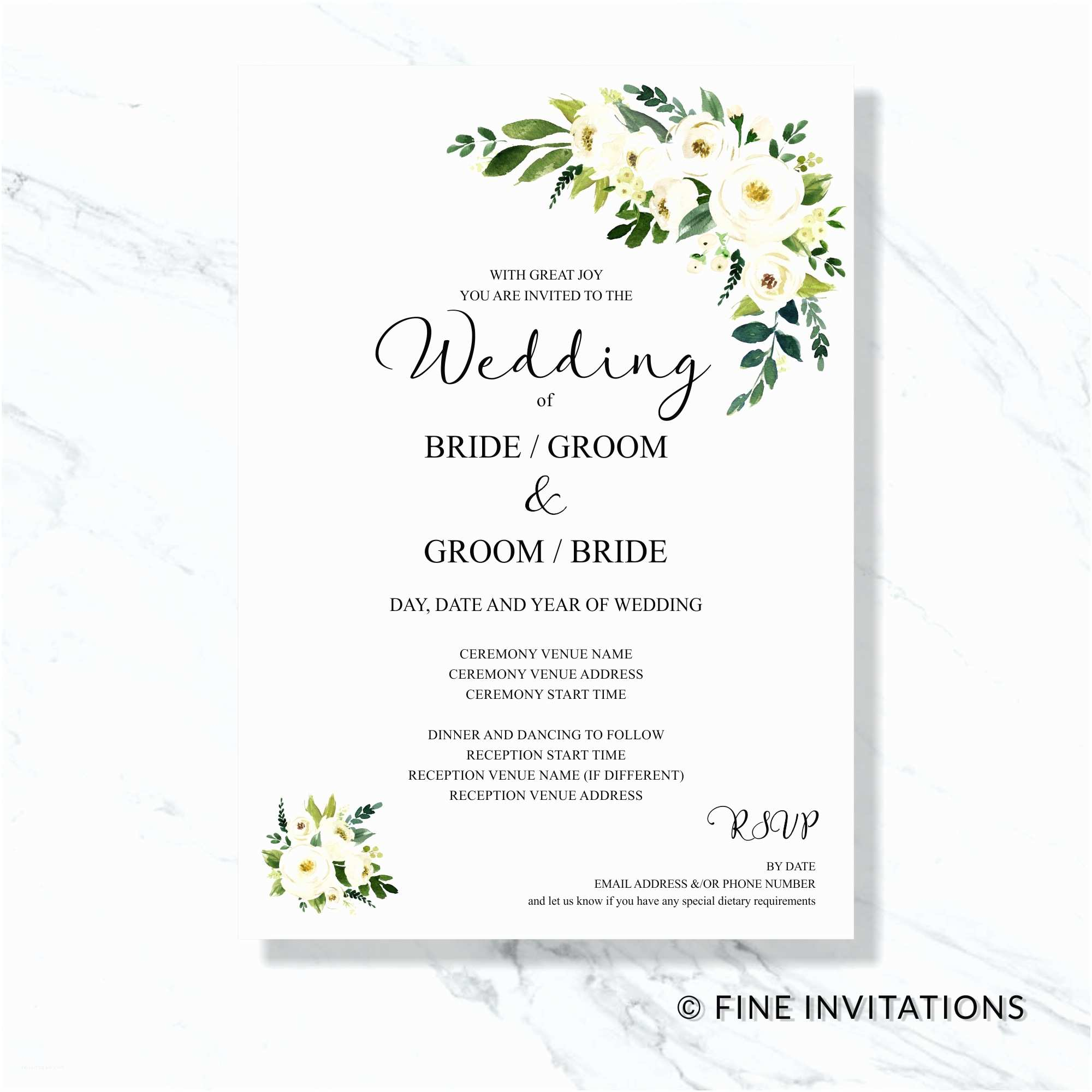 Wedding Invitation Cost Estimate Floral Wedding Invitations Fine Invitations Sydney