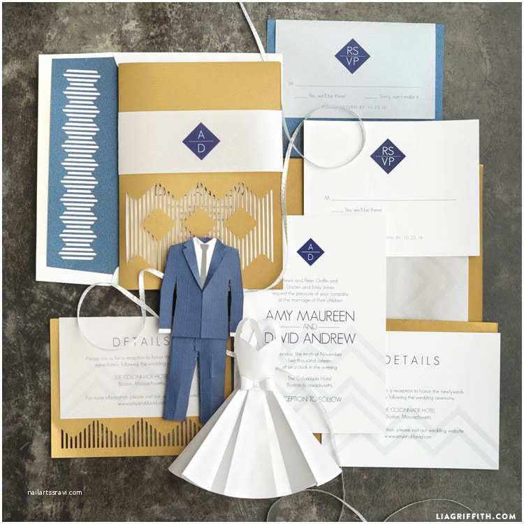 Wedding Invitation Cost Estimate Modern Wedding Invitation Suite Lia Griffith
